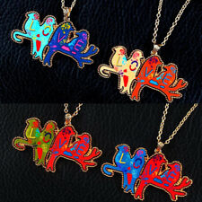 1 Pcs Necklace Colorful Pendant LOVE Sweater Chain Happy Bird Women Acrylic
