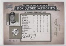 2008 Upper Deck A Piece of History Box Score Memories #BSM-39 Derek Jeter Card