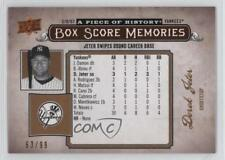 2008 Upper Deck A Piece of History Box Score Memories Copper #BSM-39 Derek Jeter