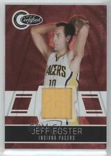 2010 Totally Certified Red Materials Memorabilia #100 Jeff Foster Indiana Pacers