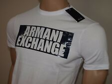Armani Exchange Authentic Bar Logo Regular Fit T Shirt White NWT