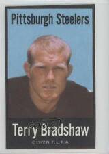 1972 NFLPA Fabric Cards #TEBR Terry Bradshaw Pittsburgh Steelers Football Card