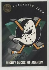 1993-94 Leaf #200 Anaheim Ducks (Mighty of Anaheim) Team Hockey Card