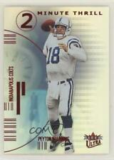 2001 Fleer Ultra 2 Minute Thrill #4TT Peyton Manning Indianapolis Colts Card