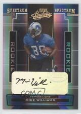 2005 Playoff Absolute Memorabilia #182 Mike Williams Detroit Lions Auto Card
