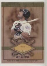 2001 SP Game Bat Edition Milestone Piece of the Action #M-MP Mike Piazza Card
