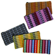 Panel Weave Accessory Bag  Handmade in Guatemala Fair Trade