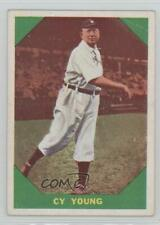 1960 Fleer #47 Cy Young Cleveland Indians Rookie Baseball Card