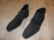 Hugo Boss 50187620 Black Suede Leather Dress Boots Shoes 9 US 42