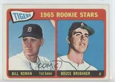 1965 Topps #493 Tigers Rookie Stars (Bill Roman Bruce Brubaker) Detroit Bill RC