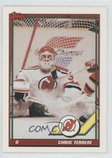 1991-92 Topps #422 Chris Terreri New Jersey Devils Hockey Card