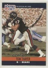 1990 Pro Set #448 Tom Thayer Chicago Bears RC Rookie Football Card