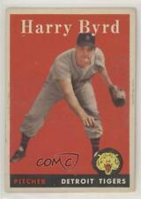1958 Topps #154 Harry Byrd Detroit Tigers Baseball Card