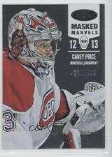 2012-13 Panini Certified #112 Masked Marvels Carey Price Montreal Canadiens Card