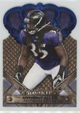 2011 Crown Royale Blue #108 Anthony Allen Baltimore Ravens Rookie Football Card