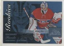 2015-16 Upper Deck Fleer Showcase Flair Blue Ice 62 Row 0 Rookies Zachary Fucale