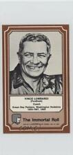 1975 Fleer Team Cloth Patch Stickers The Immortal Roll #32 Vince Lombardi Card