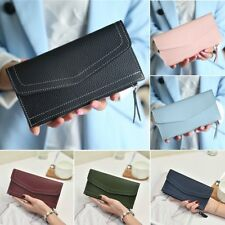Fashion Women Leather Clutch Wallet Long Card Holder Case Lady Purse Handbag