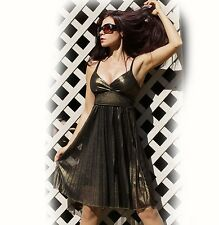 """""""Milliore"""" Sexy Lined Pleated Shimmer Padded Occasion / Formal Mini Dress S M L"""