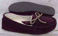 NEW Clarks Womens Plum Suede Leather Casual Slippers Shoes 807298 size 6 M