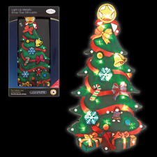CHRISTMAS XMAS TREE WINDOW WALL DECORATION LED LIGHT SILHOUETTE BATTERY OPERATED