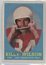 1958 Topps #95 Billy Wilson San Francisco 49ers Football Card