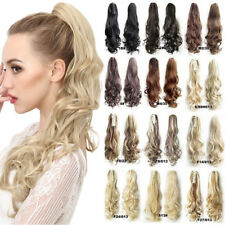 Quality New Long Claw on Ponytail Clip in Hair Extensions Piece Curly Wavy AR1