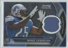 2011 Bowman Sterling Relics BSR-ML Mikel Leshoure Detroit Lions RC Football Card