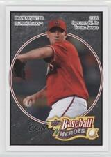 2008 Upper Deck Baseball Heroes Black #1 Brandon Webb Arizona Diamondbacks Card