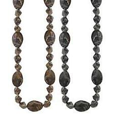 *NEW* Long Marbled Beaded Necklace W/ Matching Bracelet Chunky Statement