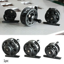 Portable Ice Fishing Travel Fly Fishing Wheel Reel Fishing Accessories Black
