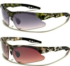 NEW X-LOOP SUNGLASSES MENS LADIES WOMENS WRAP SPORTS BIG CAMOUFLAGE RIMLESS