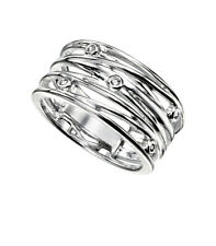 Sterling Silver Clear  Wrapped Wire Style Ring