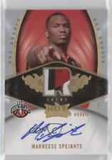 2008 Fleer Hot Prospects #120 Marreese Speights Philadelphia 76ers Auto RC Card