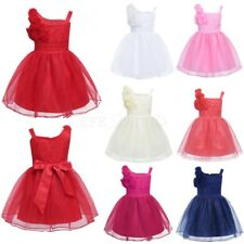 New Baby Flower Girl Birthday Wedding Christening Pageant Princess Formal Dress
