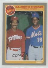 1985 Fleer #634 Juan Samuel Dwight Gooden Philadelphia Phillies New York Mets