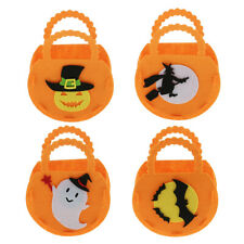 3pcs Halloween Bag Trick or Treat Tote Candy Bag Felt Goody Bag Sweet Kids Loot