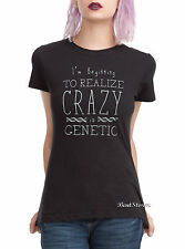 BBC Orphan Black Crazy is Genetic fitted tee T-shirt Hot Topic Exclusive JRS L