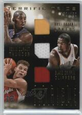 2013-14 Panini Intrigue Terrific Trios 30 Blake Griffin Kevin Durant Kobe Bryant