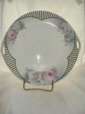 Antique Royal Rudolstadt Prussia Handled Collector Plate - With Pink Roses!