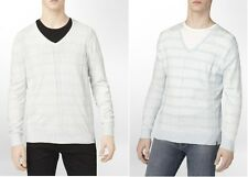 Calvin Klein Mens Sweater Striped V-Neck Multi Long Sleeves size XL 2XL NEW