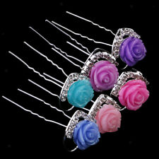 20Pcs Women Crystal Rhinestone Flower Wedding Bridal Hair Pin Clip Hairpins