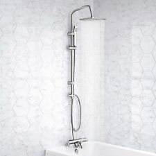 Square Chrome Thermostatic Shower Mixer Valve Bath Filler Tap Head Handset Set