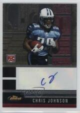 2008 Topps Finest Rookie Autographs 116 Chris Johnson Tennessee Titans Auto Card