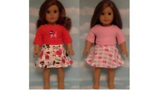 """Skirt Set handmade for 18"""" American Girl Doll to fit 18 inch Doll Clothes 563ab"""