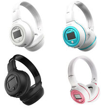 Wireless Bluetooth Headphones Soft Stereo Handsfree Music Player &SD Card 4Color