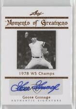 2011 Leaf Legends of Sport Moments Greatness Bronze #MG-15 Goose Gossage Auto