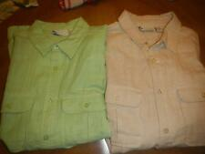 Island Shores NEW Lightweight Button Front S/S Shirt Size L  Compare At $50