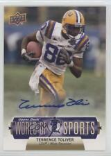 2011 Upper Deck World of Sports Autographs 134 Terrence Toliver Auto Rookie Card