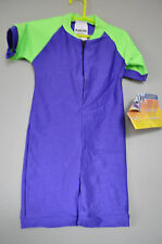Radicool Rash Guard SPF Swimwear UPF Purple Green Wetsuit - Size 2T 4 2 4T
